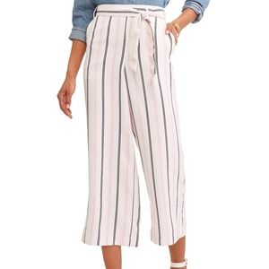 French Laundry Striped Cropped wide leg Pant 3X